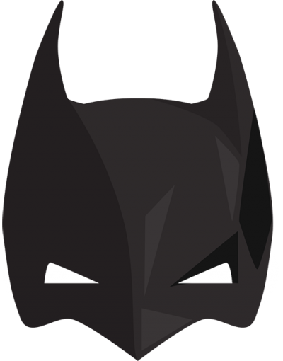 Bat, Batman, Face, Half, Mask, Skin, Png PNG Images
