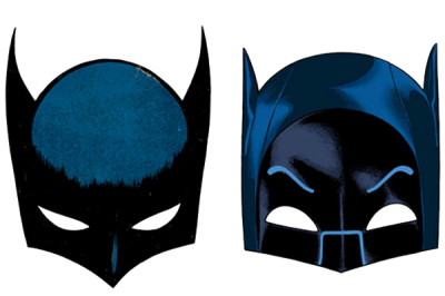 Black And Blue Batman Mask Png Transparent PNG Images