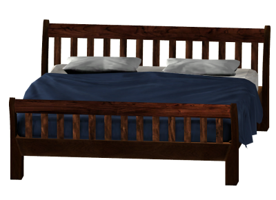 Dark Brown Bed Free Png PNG Images