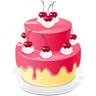 Birthday, Cake, Candle, Sour Cherry, Png Photos