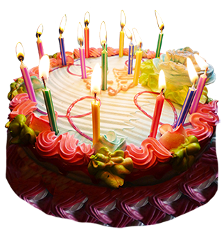 Birthday, Cake, Candle, Sour Cherry, Png Transparent PNG Images