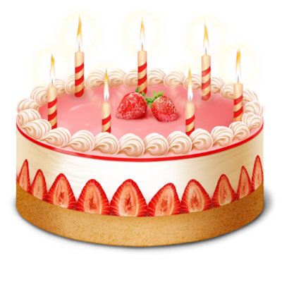 Birthdaycake Cake Candles Celebration Party Three Icons Ong PNG Images