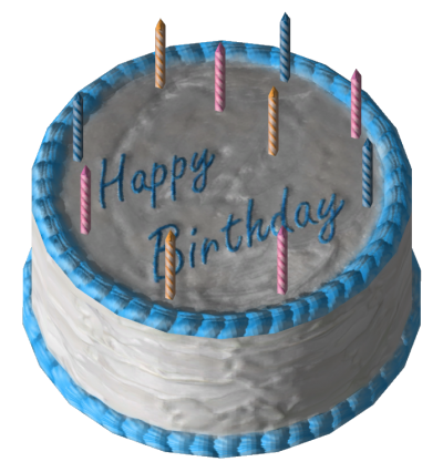 Blue And White Birthday Cake Clipart