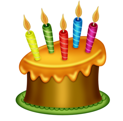 Candle Birthday Cake Png Clipart