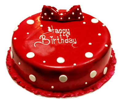 Red Birthday Cake Png PNG Images