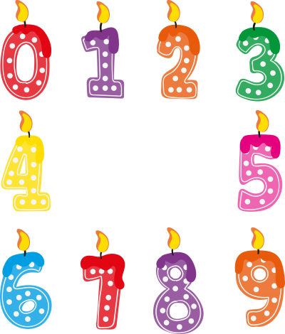 Birthday Candle Number Clipart PNG Photos PNG Images