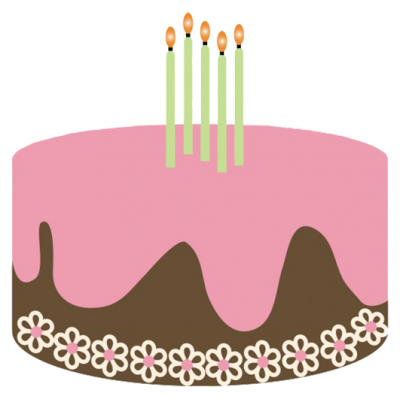 Birthday Candles Cake High Quality PNG