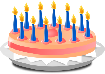 Birthday Cake With Candles Clipart Transparent