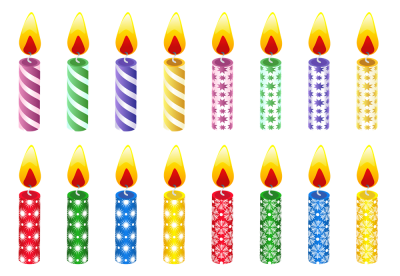 Birthday Candles Small Png PNG Images