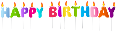 Happy Birthday Candles Best Png PNG Images