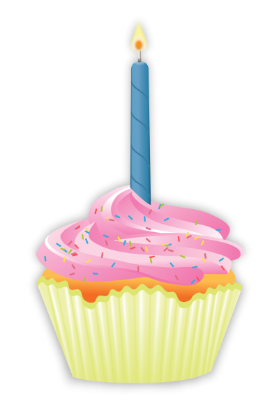 Cupcake Birthday Candles Transparent Picture PNG Images