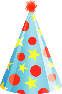 Blue And Red Birthday Hat Png Transparent Images