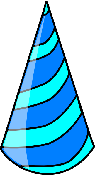 Blue Birthday Hat Png Clipart
