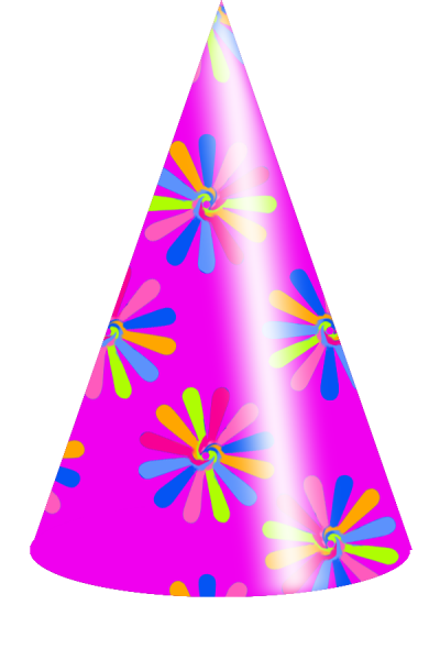 Colors Birthday Hat Vector Clipart Picture