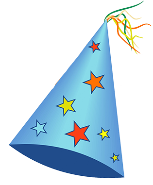 Old Light Birthday Hat Png PNG Images