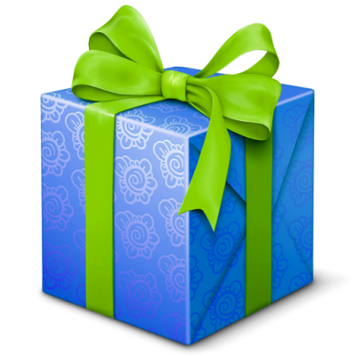 Blue, Gift, Present, Welcome Icon Png PNG Images