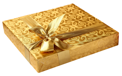 Gold Birthday Gift Png Images