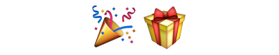 Mardi Gras Birthday Present Png PNG Images