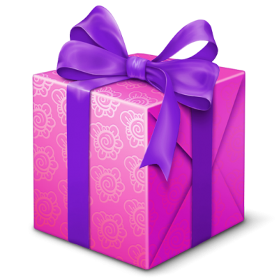 Purple Box Gift, Present Icon Png PNG Images