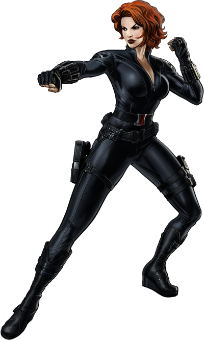 Black Widow Comic Png PNG Images