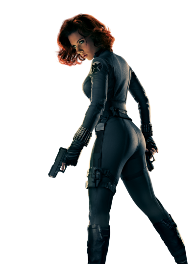 Black Widow Clipart PNG File