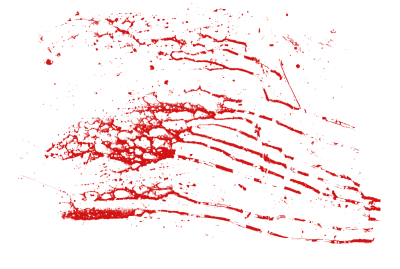 Blood Splatter Image Cut Out