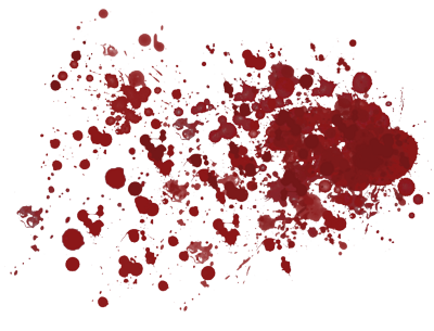 Blood Splatter Transparent Background