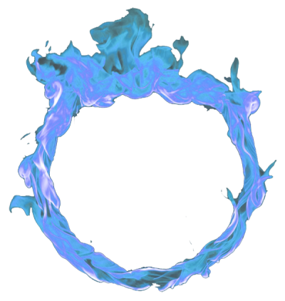 Blue Fire Circle Picture