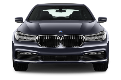 Transparent PNG BMW 740i Sedan Front View PNG Images