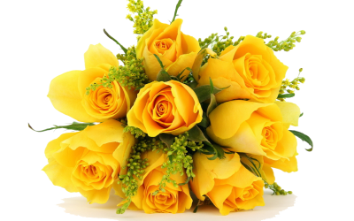 Yellow Bouquet Flowers Images PNG PNG Images