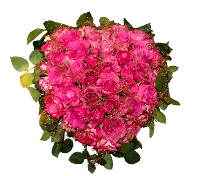 Pink Hearts Bouquet Flowers Free Cut Out PNG Images