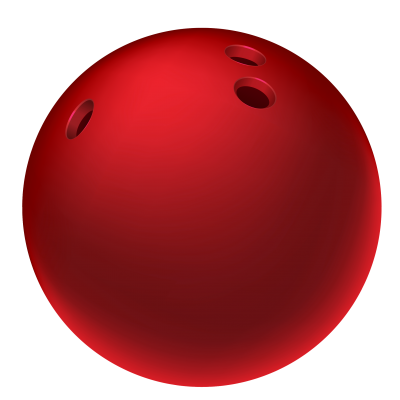 Red Bowling Ball PNG PNG Images