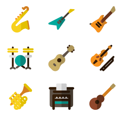 Musical Instrument Icons   2,752  Vector Icons