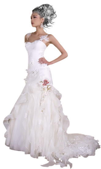 Crown Bride Dress Png PNG Images