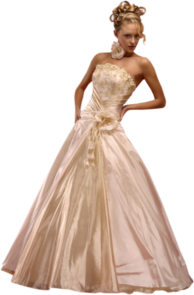 Transparent Bride Dress Png PNG Images