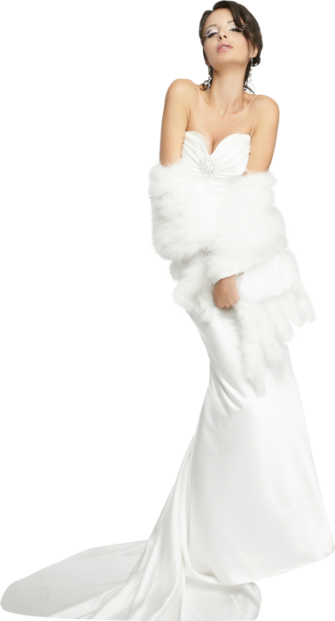 White Bride Dress Png PNG Images