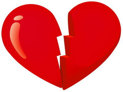 Broken Heart Cut Out PNG Images