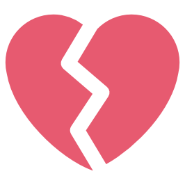 Broken Heart PNG Icon