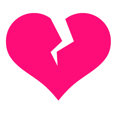 Broken Heart Vector PNG Images