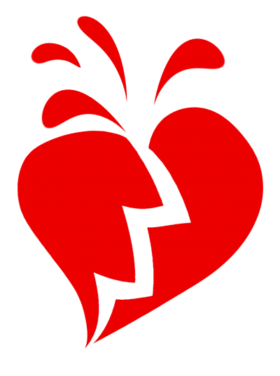 Vector Broken Heart PNG Images