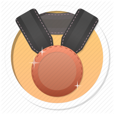 Achievement, Award, Badge Bronze Medal Png PNG Images