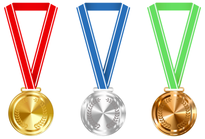 Gold Silver And Bronze Medals Png Clipart Image