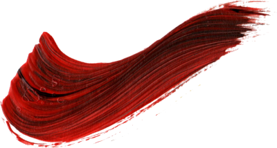 Red Wavy Paint Brush Stroke Free Transparent PNG Images