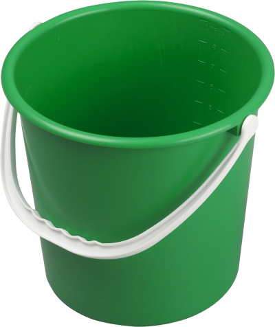 Bucket Plastic Green PNG Icon