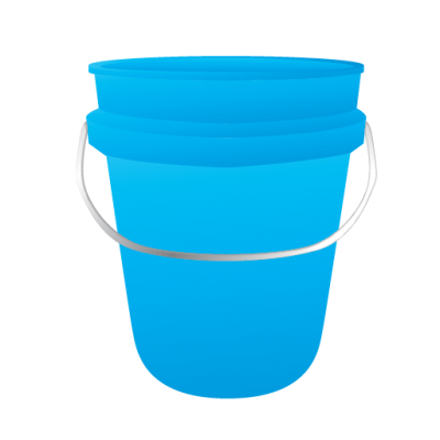 Bucket Blue Simple PNG Images