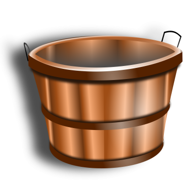 Wooden Bucket Free Download PNG Images