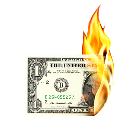 Burning Money Transparent