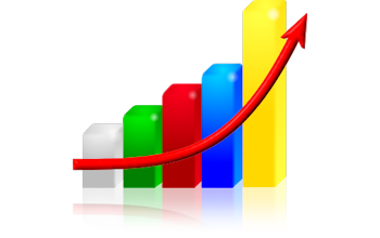 Colors Business Growth Chart Png