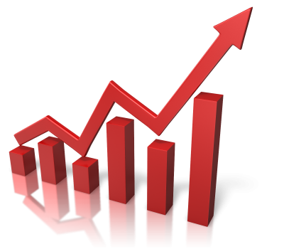 Red Business Growth Chart Png Transparent Image