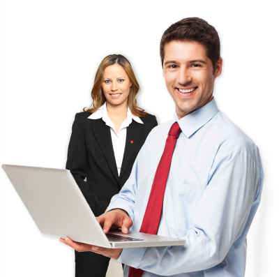 Business People With Notebook, Laptop Png PNG Images